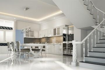 interiér design bílý nábytek styl turnov